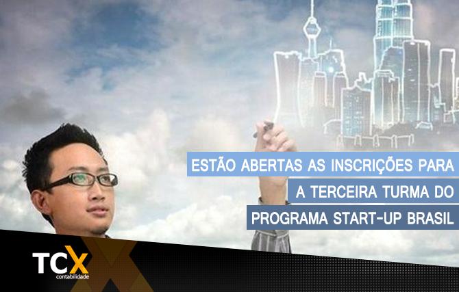 Estão abertas as inscrições para a terceira turma do programa Start-Up Brasil