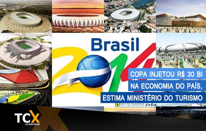 Copa injetou R$ 30 bi na economia do país, estima Ministério do Turismo