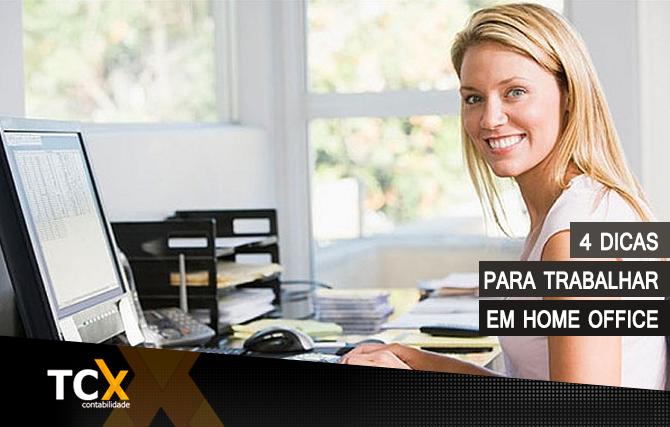 4 dicas para trabalhar em home office