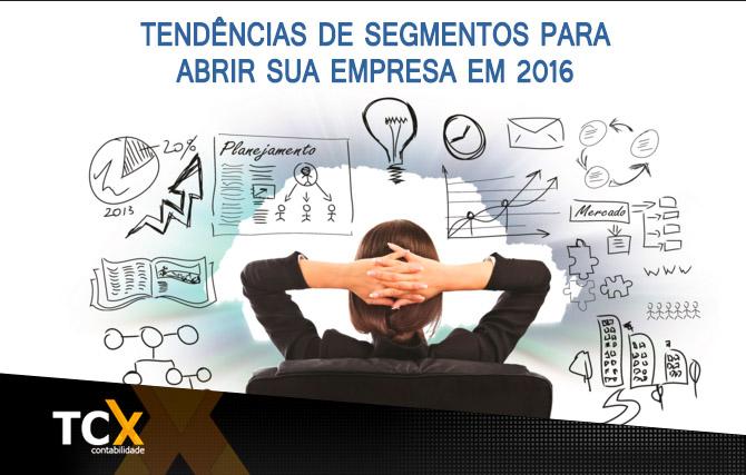 Tendências de segmentos para abrir sua empresa em 2016